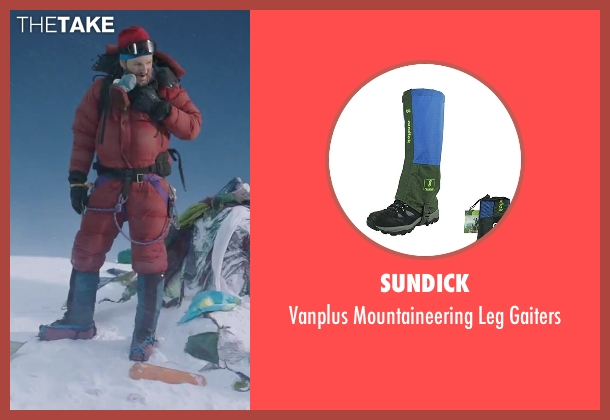Sundick gaiters from Everest seen with Jason Clarke (Rob Hall)