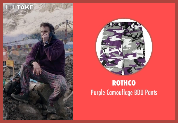 Rothco pants from Everest seen with Jason Clarke (Rob Hall)