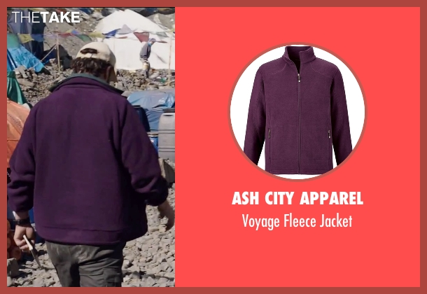 Ash City Apparel purple jacket from Everest seen with Jason Clarke (Rob Hall)
