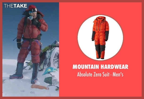 Mountain Hardwear red men's from Everest seen with Jason Clarke (Rob Hall)