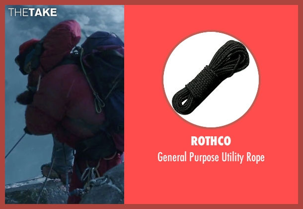 Rothco rope from Everest seen with Jason Clarke (Rob Hall)