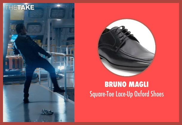 Bruno Magli black shoes from Terminator: Genisys seen with Jason Clarke (John Connor)