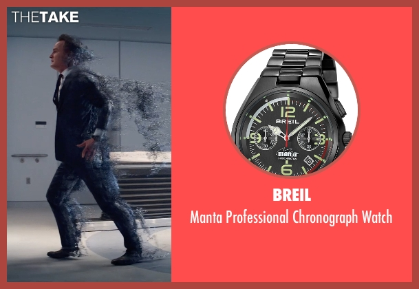 Breil black watch from Terminator: Genisys seen with Jason Clarke (John Connor)