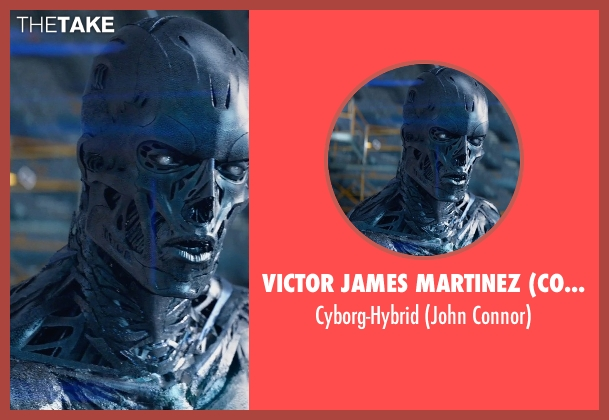 Victor James Martinez (Concept Artist) cyborg-hybrid from Terminator: Genisys seen with Jason Clarke (John Connor)