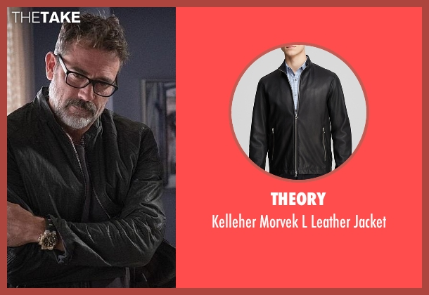 Theory black jacket from The Good Wife seen with Jason Crouse (Jeffrey Dean Morgan)