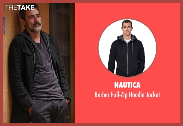 Nautica black jacket from The Good Wife seen with Jason Crouse (Jeffrey Dean Morgan)