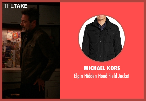 Michael Kors black jacket from The Good Wife seen with Jason Crouse (Jeffrey Dean Morgan)