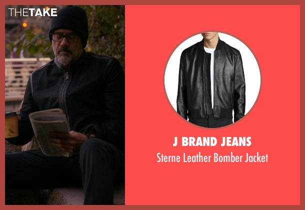 J Brand Jeans black jacket from The Good Wife seen with Jason Crouse (Jeffrey Dean Morgan)