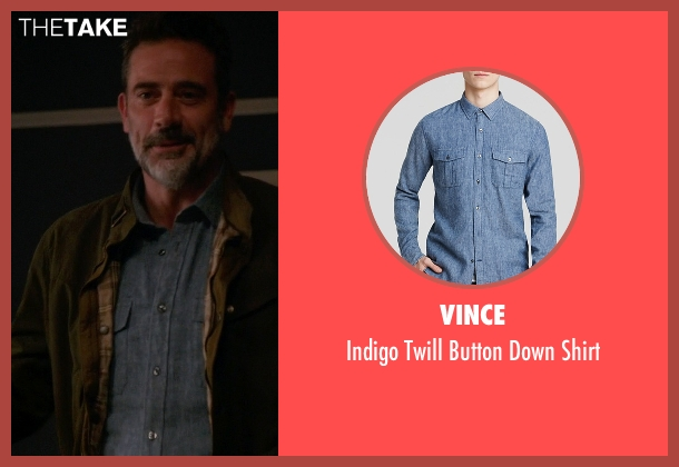 Vince blue shirt from The Good Wife seen with Jason Crouse (Jeffrey Dean Morgan)