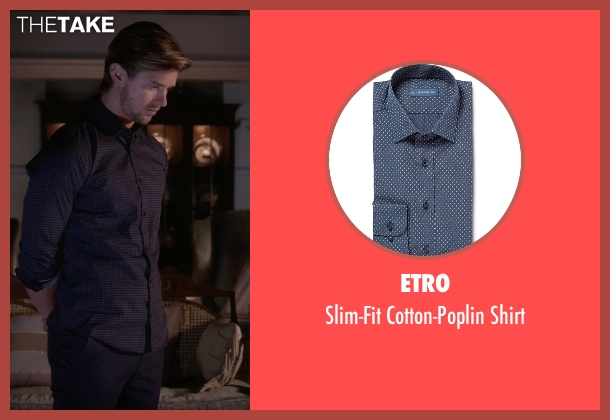 Etro blue shirt from Pretty Little Liars seen with Jason DiLaurentis (Drew Van Acker)