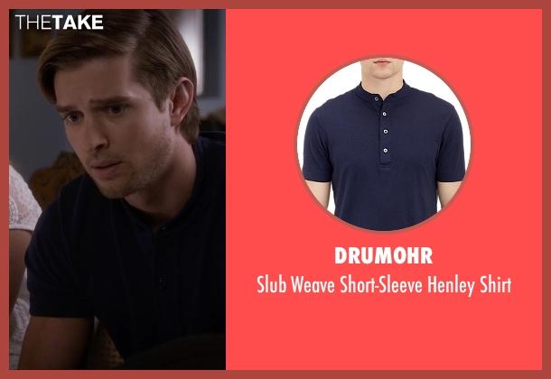 Drumohr blue shirt from Pretty Little Liars seen with Jason DiLaurentis (Drew Van Acker)
