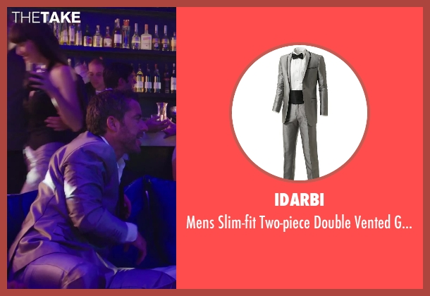 Idarbi gray suit from Hot Tub Time Machine 2 seen with Jason Jones (Gary Winkle)
