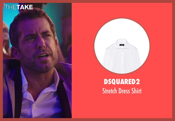 Dsquared2 white shirt from Hot Tub Time Machine 2 seen with Jason Jones (Gary Winkle)