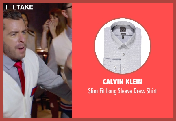 Calvin Klein gray shirt from Pitch Perfect 2 seen with Jason Jones (Clef # 3)
