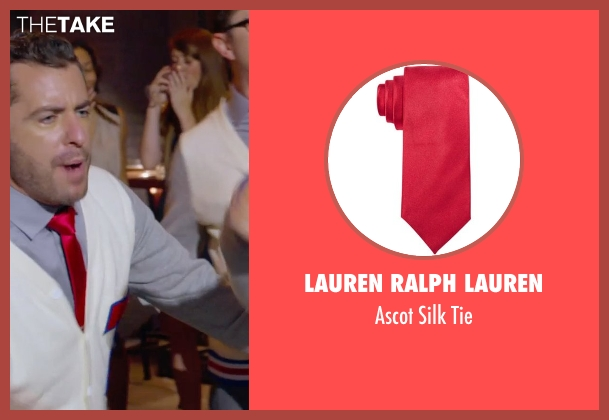 Lauren Ralph Lauren red tie from Pitch Perfect 2 seen with Jason Jones (Clef # 3)