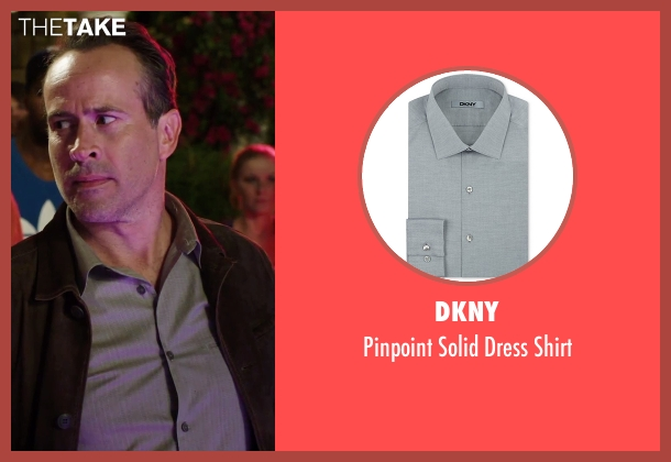 DKNY gray shirt from Alvin and the Chipmunks: The Road Chip seen with Jason Lee (Dave)