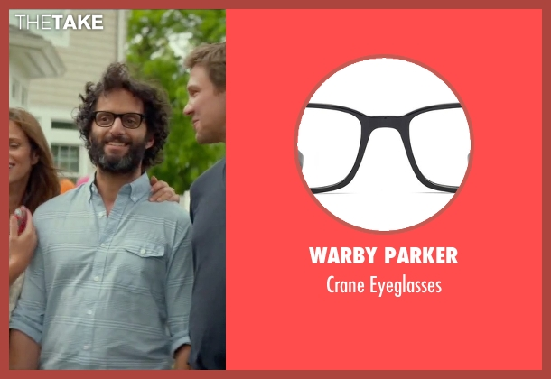 Warby Parker black eyeglasses from Sleeping with Other People seen with Jason Mantzoukas (Xander)