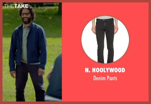 N. Hoolywood black pants from Sleeping with Other People seen with Jason Mantzoukas (Xander)