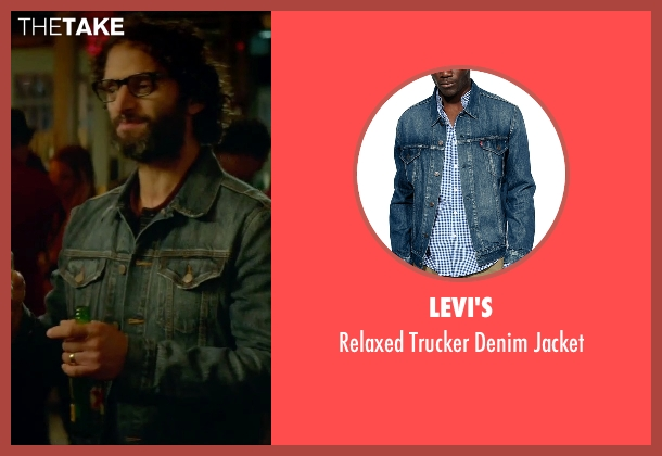 Levi's blue jacket from Sleeping with Other People seen with Jason Mantzoukas (Xander)