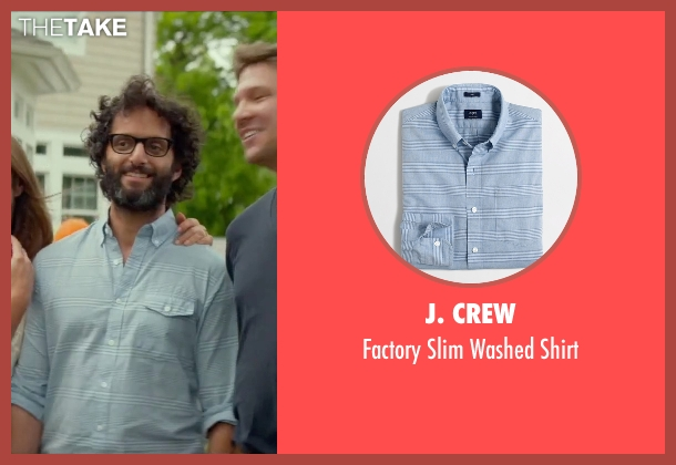 J. Crew blue shirt from Sleeping with Other People seen with Jason Mantzoukas (Xander)