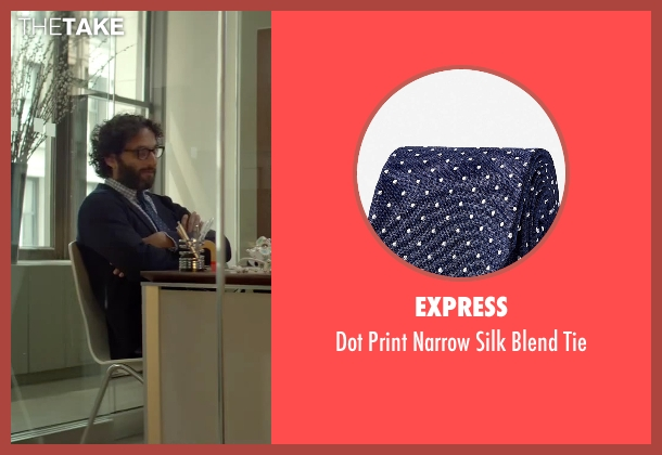 Express blue tie from Sleeping with Other People seen with Jason Mantzoukas (Xander)