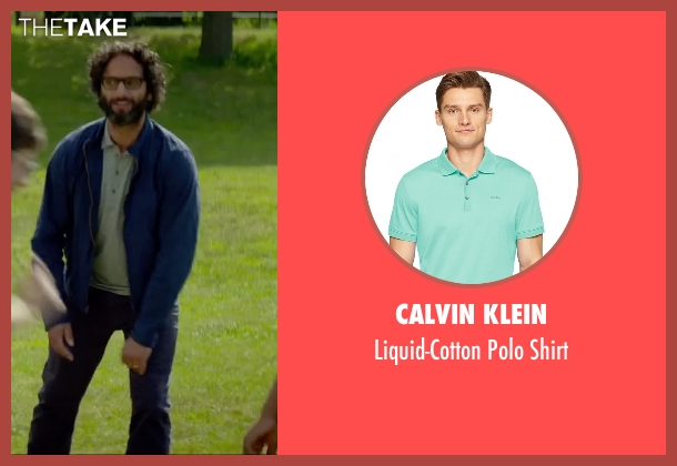 Calvin Klein green shirt from Sleeping with Other People seen with Jason Mantzoukas (Xander)