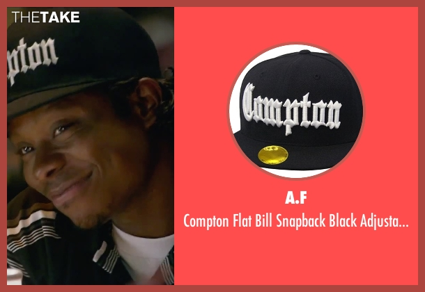 A.F black cap from Straight Outta Compton seen with Jason Mitchell (Eazy-E)