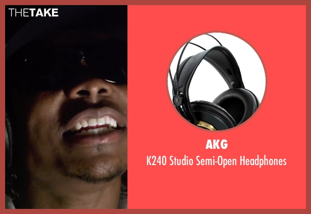 AKG black headphones from Straight Outta Compton seen with Jason Mitchell (Eazy-E)