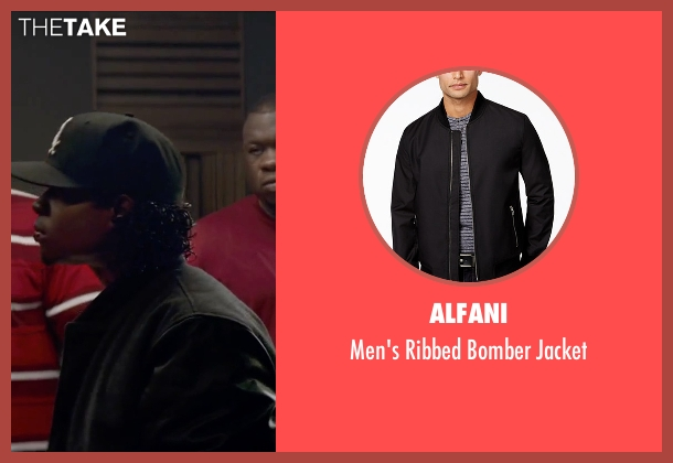 Alfani black jacket from Straight Outta Compton seen with Jason Mitchell (Eazy-E)