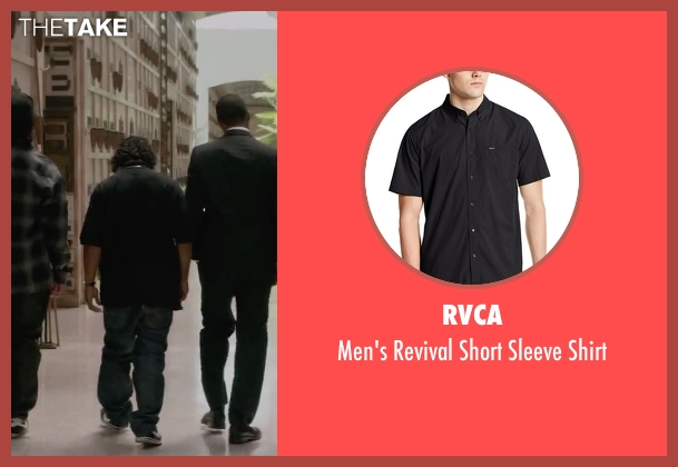 RVCA black shirt from Straight Outta Compton seen with Jason Mitchell (Eazy-E)