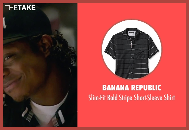 Banana Republic black shirt from Straight Outta Compton seen with Jason Mitchell (Eazy-E)