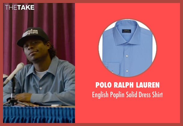 Polo Ralph Lauren blue shirt from Straight Outta Compton seen with Jason Mitchell (Eazy-E)