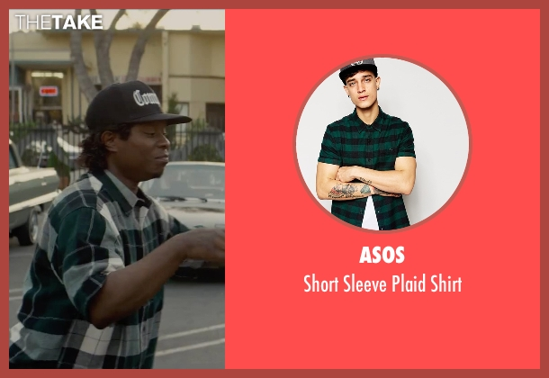 ASOS green shirt from Straight Outta Compton seen with Jason Mitchell (Eazy-E)