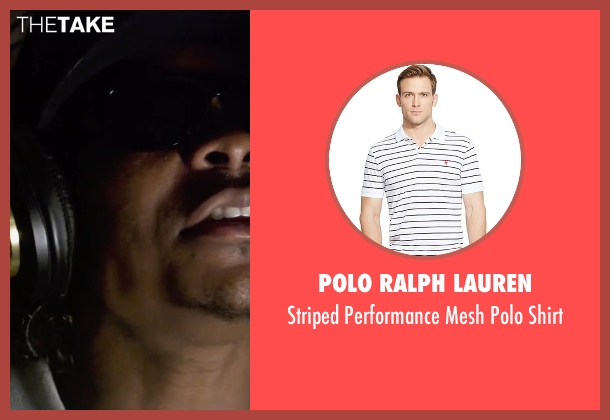 Polo Ralph Lauren white shirt from Straight Outta Compton seen with Jason Mitchell (Eazy-E)