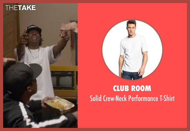 Club Room white t-shirt from Straight Outta Compton seen with Jason Mitchell (Eazy-E)