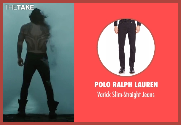 Polo Ralph Lauren black jeans from Justice League seen with Jason Momoa (Arthur Curry / Aquaman)
