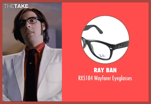 Ray Ban black eyeglasses from Scott Pilgrim Vs. The World seen with Jason Schwartzman (Gideon Graves)