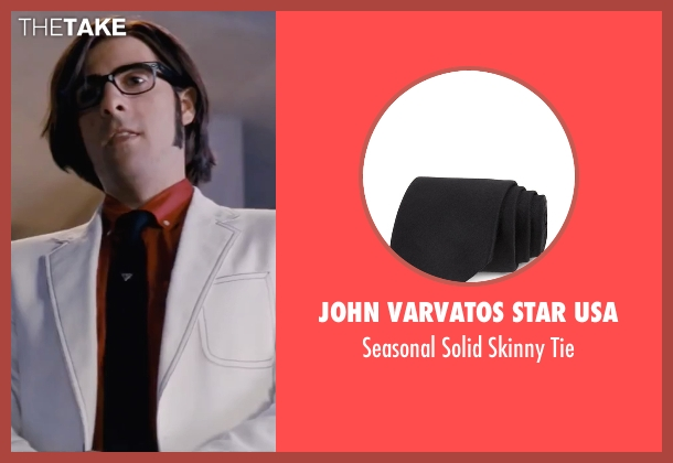 John Varvatos Star USA black tie from Scott Pilgrim Vs. The World seen with Jason Schwartzman (Gideon Graves)