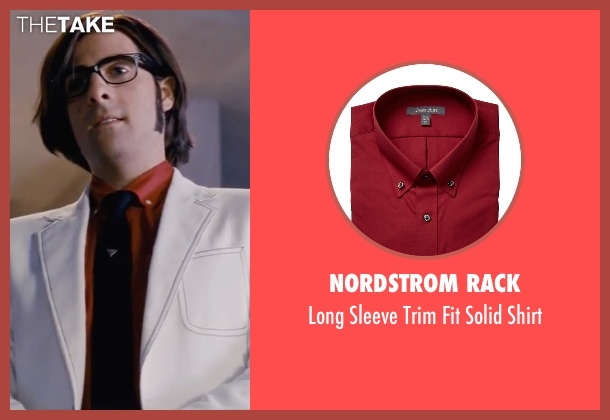 Nordstrom Rack red shirt from Scott Pilgrim Vs. The World seen with Jason Schwartzman (Gideon Graves)
