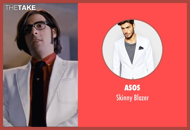 ASOS white blazer from Scott Pilgrim Vs. The World seen with Jason Schwartzman (Gideon Graves)