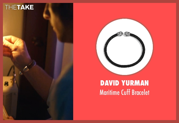 David Yurman black bracelet from The Overnight seen with Jason Schwartzman (Kurt)