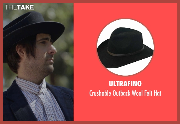 Ultrafino black hat from The Overnight seen with Jason Schwartzman (Kurt)
