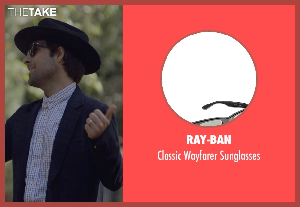 Ray-Ban black sunglasses from The Overnight seen with Jason Schwartzman (Kurt)