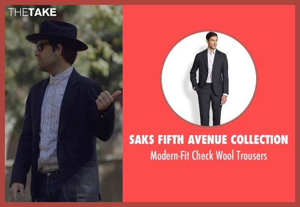 Saks Fifth Avenue Collection blue trousers from The Overnight seen with Jason Schwartzman (Kurt)