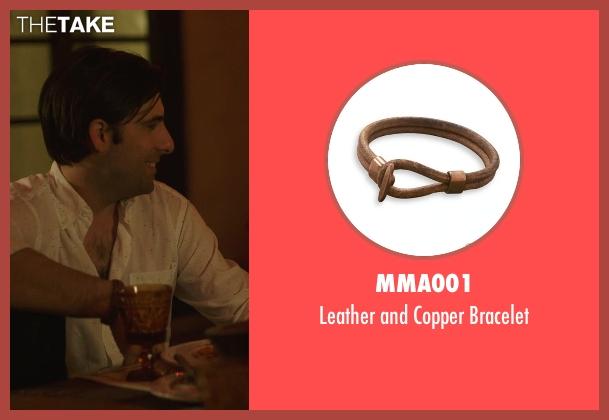 MMA001 brown bracelet from The Overnight seen with Jason Schwartzman (Kurt)