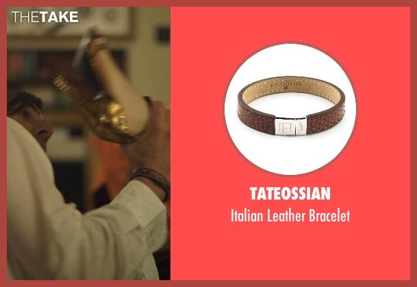 Tateossian brown bracelet from The Overnight seen with Jason Schwartzman (Kurt)