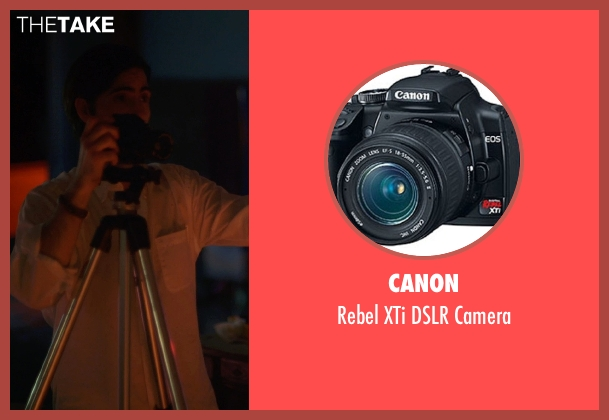 Canon camera from The Overnight seen with Jason Schwartzman (Kurt)