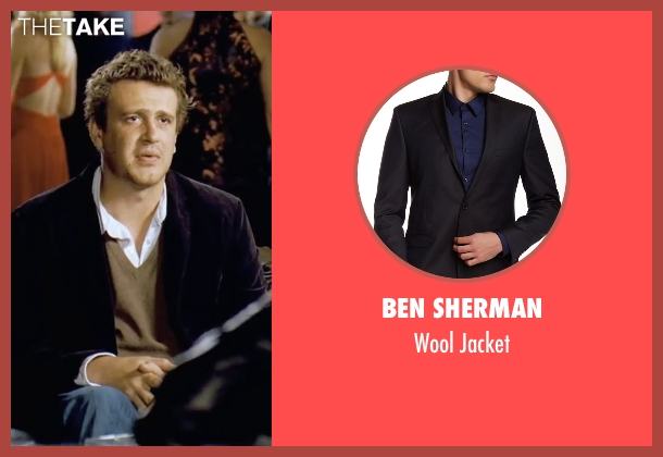 Ben Sherman black jacket from Forgetting Sarah Marshall seen with Jason Segel (Peter Bretter)