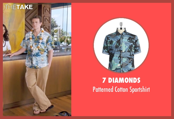 7 Diamonds blue sportshirt from Forgetting Sarah Marshall seen with Jason Segel (Peter Bretter)