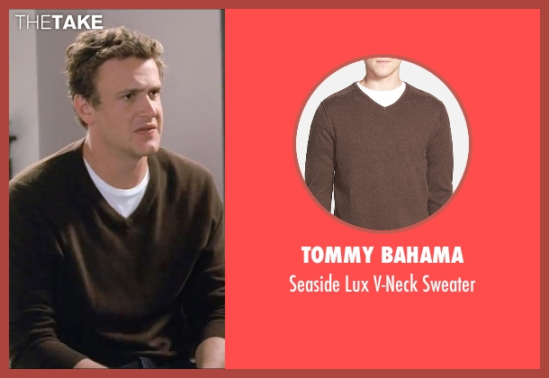 Tommy Bahama brown sweater from Forgetting Sarah Marshall seen with Jason Segel (Peter Bretter)